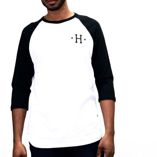 HUF Swing Kings Raglan T-Shirt - Black