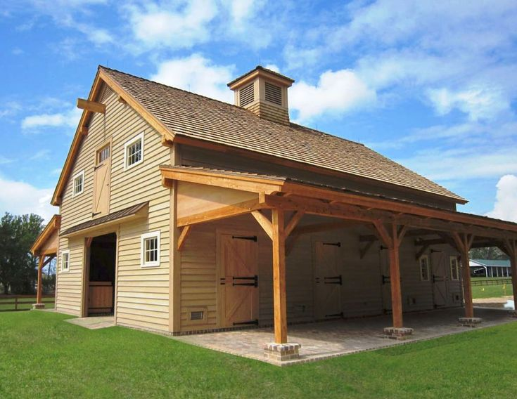 horse barn ideas | Horse Barn in Carolina built with Elegant Wooden Beams