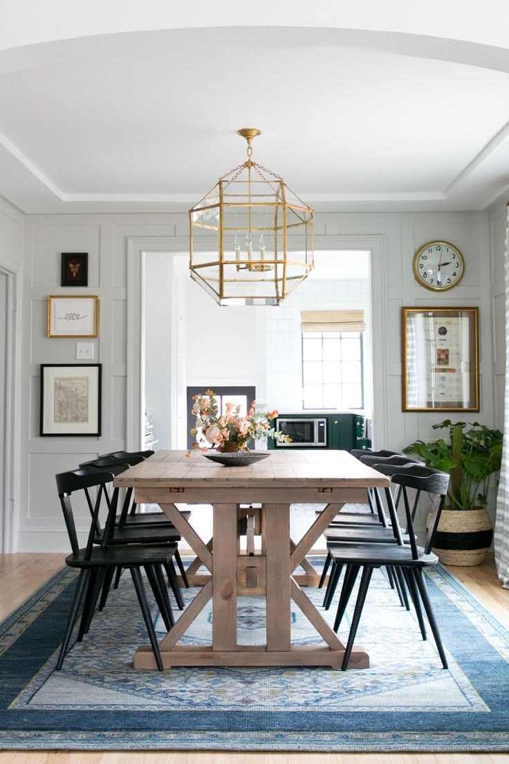 This modern farmhouse dining room by studio mcgee gets for Modern dining room accessories