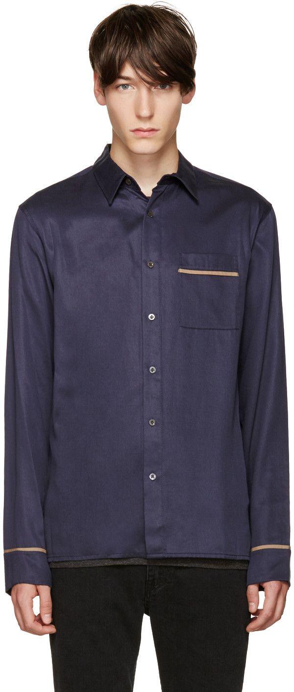 3.1 Phillip Lim - Navy Pyjama Shirt (size S)