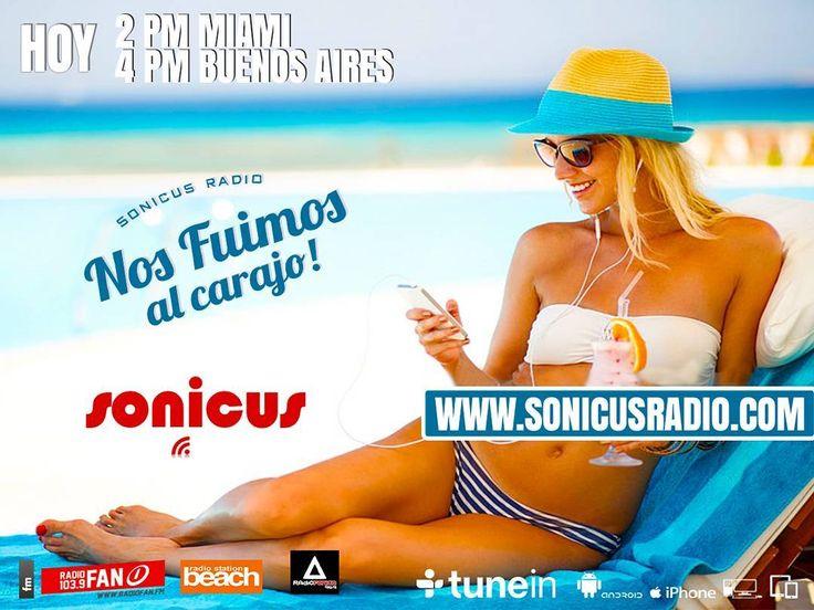ya llegamos!! en vivo!! la ultima semana del año se vive en la Radio!! www.sonicusradio.com #radio #online #music #musica #pop #hits #top  #followme #miami #latinos #hot #party #trendy #artistas #ranking #chart #show  #fashiongram #musicislife #ilovemusic #losangeles #newyork #celebrity  #dominicana #argentina  #tunein