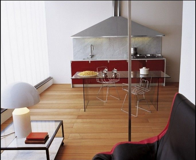 Kitchen Designs:Great Layout Design For Kitchen And Living Room In Narrow Space Classy Kitchens from Schiffini