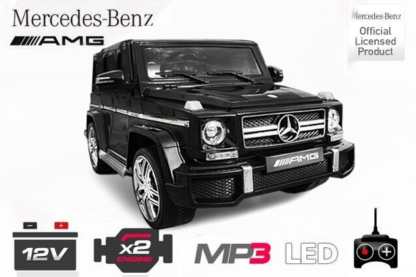 Lizenz Mercedes G63 Kinder Elektroauto AMG 63 SUV Neues Model Leder LED in RED