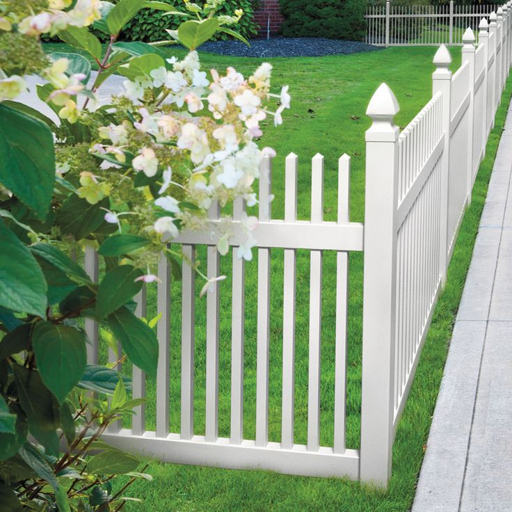 Shop FREEDOM Contractor Carlisle Straight White Gothic Picket Vinyl Fence  Panel (Common: 48 In X 6 Ft; Actual: 46 In X 5.67 Ft) At Lowes.com |  Pinterest ...