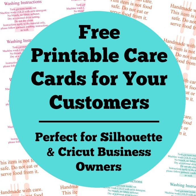 graphic regarding Printable 651 Vinyl titled Absolutely free Printable Treatment Playing cards for Your Silhouette or Cricut