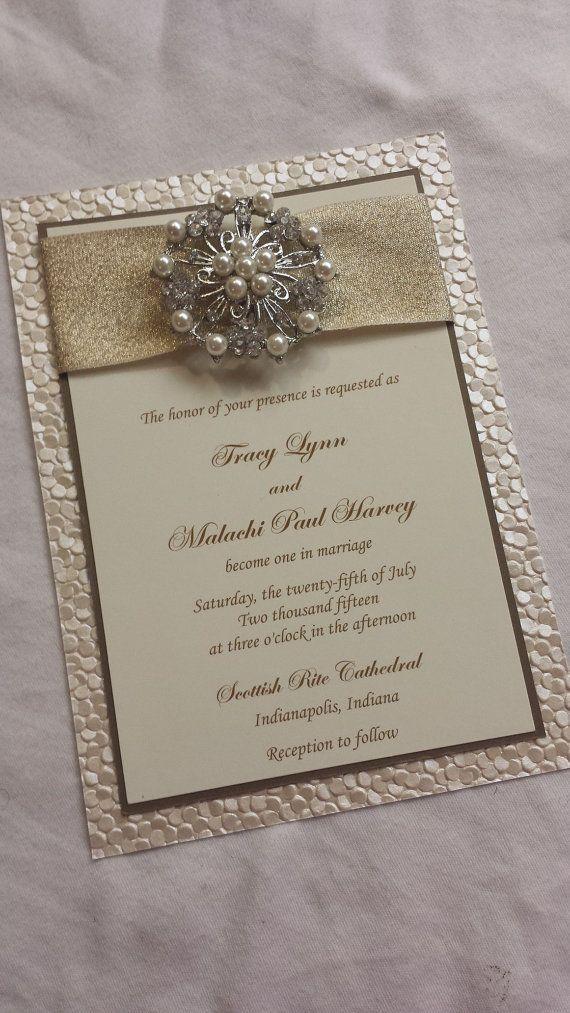 Embossed Wedding InvitationPebble Paper Wedding Invitation Sample