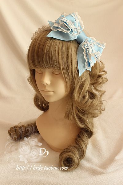 Dy Lolita bonnets, bows and headdresses