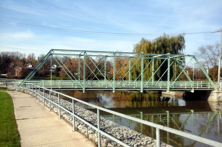Water Street Steel Bridge was built in 1898 and crosses Trout Creek.