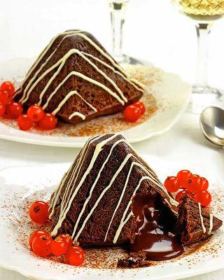 Пирамидки «Шоколадная лава»