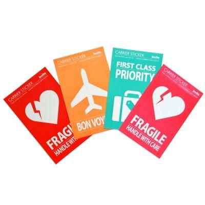 carrier, ruggage sticker. Priority, Fragile, Bon voyage