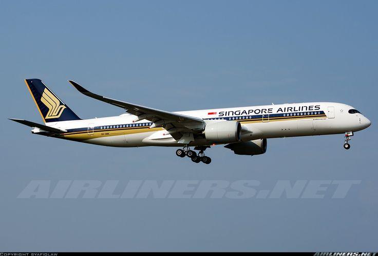 Airbus A350-941, Singapore Airlines, 9V-SMA, cn 026, 253 passengers, first flight 2.2.2016, Singapore delivered 26.2.2016. 2.6.2016 flight Amsterdam - Singapore. Foto: Kuala Lumpur, Malaysia, 11.3.2016.
