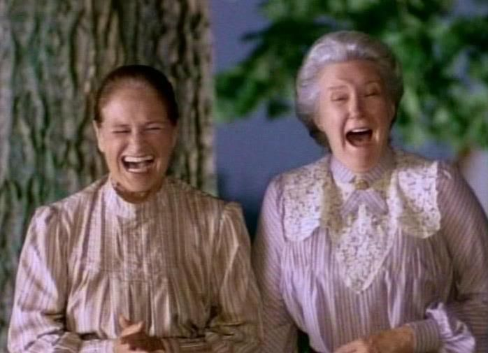 Could you tell that Colleen Dewhurst (Marilla Cuthbert) and Patricia Hamilton (Rachel Lynde) shared a great friendship?  https://www.facebook.com/photo.php?fbid=612399685441685=a.299267883421535.97901.170440656304259=1