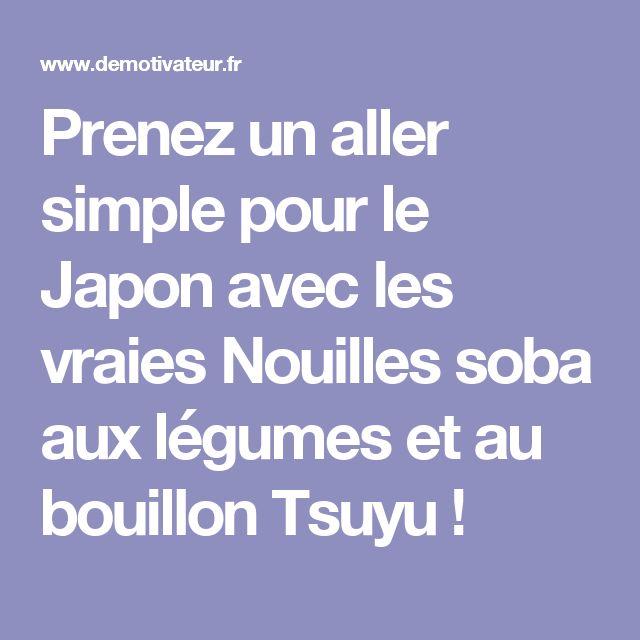 Prenez un aller simple pour le Japon avec les vraies Nouilles soba aux légumes et au bouillon Tsuyu!