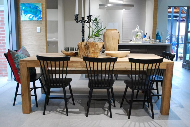 Reclaimed Teak dining table with Lo Chairs