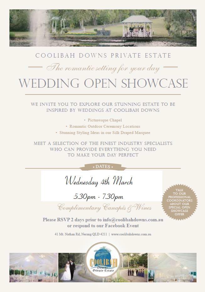Coolibah Downs Private Estate Open Showcase HouseWedding VenuesWedding Reception