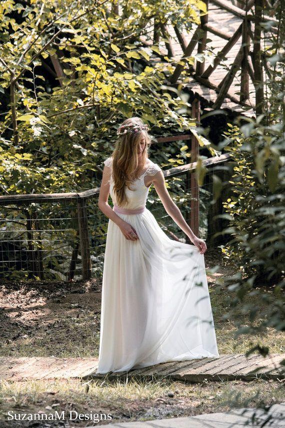 Bohemian Wedding Dress Long Boho Bridal Wedding by SuzannaMDesigns