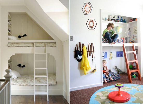 Chambre d'enfant : les lits superposés