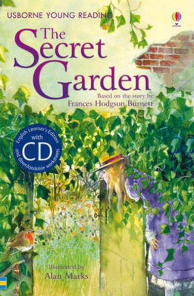 The Secret Garden: Usborne Young Readers series with audio CD. Summarizes the story with pictures in about 20 pages! Good CD for bedtime listening.