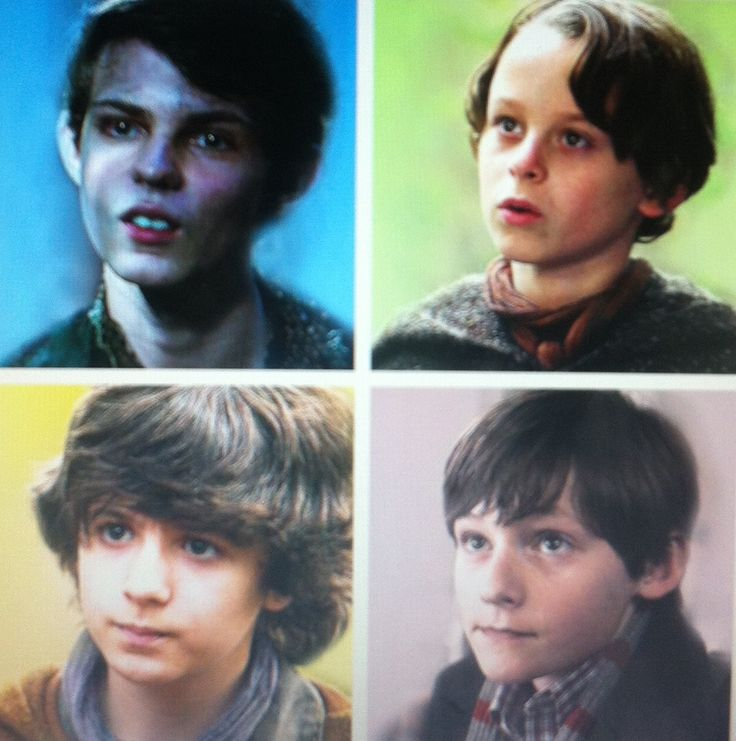 Evolution of the family. Peter Pan Rumplestiltskin. Baelfire. Henry. Which one is your favorite? Mine is Rumple, both as an adult and as a child. :)