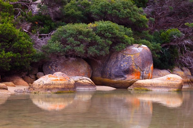 Colorful Rocks in Wilsons Promontory National Park in Victoria