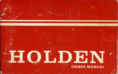Holden Owner Manual - HQ