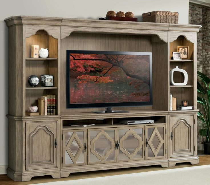 Corinne Entertainment Wall Unit in Pine   Riverside   Home Gallery Stores. 285 best Entertainment Centers We Love images on Pinterest