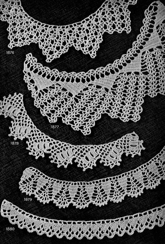 Crochet Edging Patterns for Gifts Nos. 1871 to 1880 originally published in Star Book of 100 Edgings. #edging #edgingpatterns