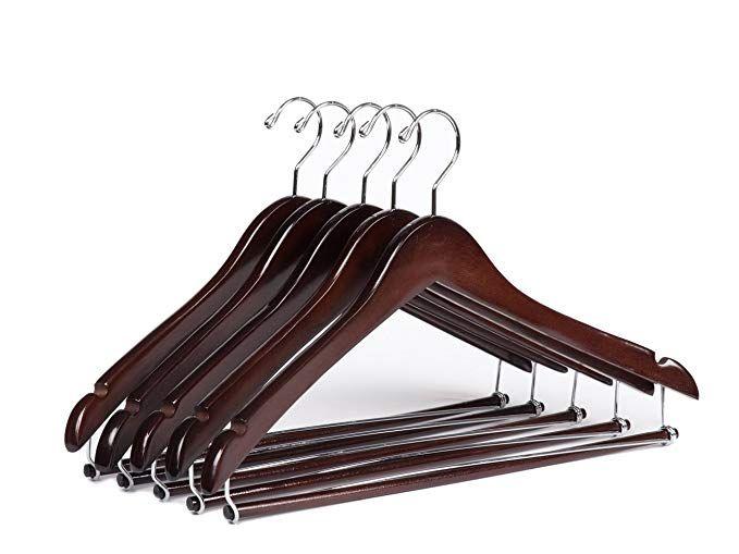 Amazon Com Quality Hangers Wooden Hangers Beautiful Sturdy Suit