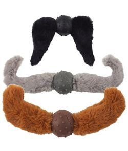 Doggles Mustache Dog Toy Silver Handlebar