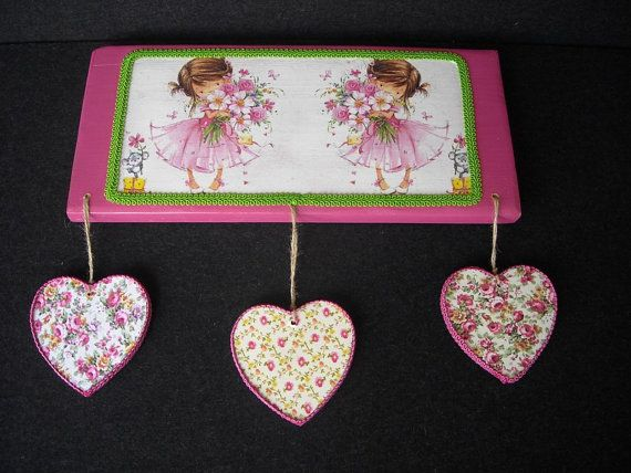 Pretty fuchsia wooden sign by HandmadeByFiona on Etsy, $35.00