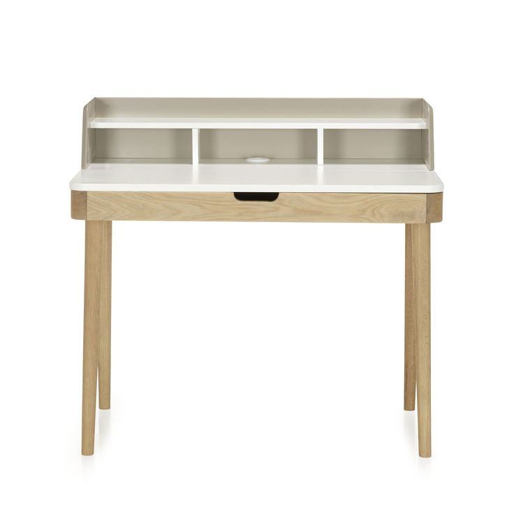 Bureau avec rehausse et tiroir à clapet - Kinna - Bureaux adultes-Bureaux-Bureau-Par pièce - Décoration intérieur - Alinea