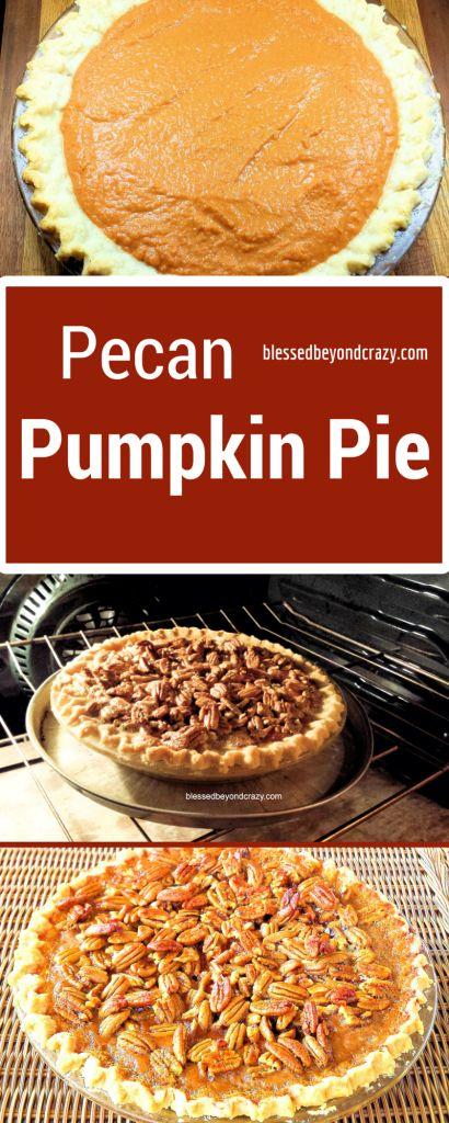 Pecan Pumpkin Pie. This is an amazing recipe!