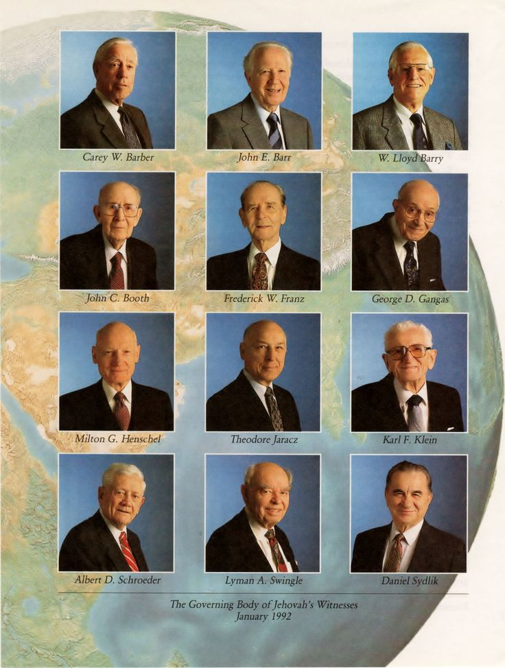 Governing Body in January 1992, many of these dear brothers lived prior to 1914.