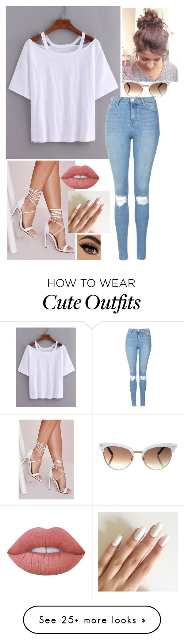 """Outfit #109"" by written-off-blog on Polyvore featuring Topshop, Missguided, Lime Crime and Gucci"