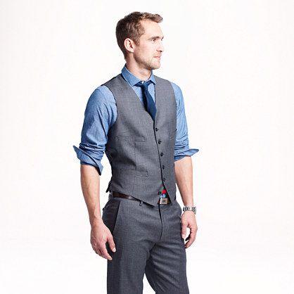 Ludlow suit vest in Italian worsted wool - suits - Wedding's Groom & Groomsman - J.Crew