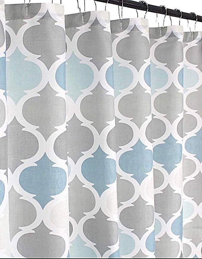Amazon Com Serafina Home Universal Bathroom Fabric Shower Curtain