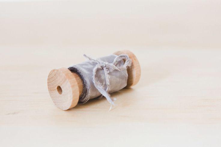 """silk ribbon """"grey marbled"""""""