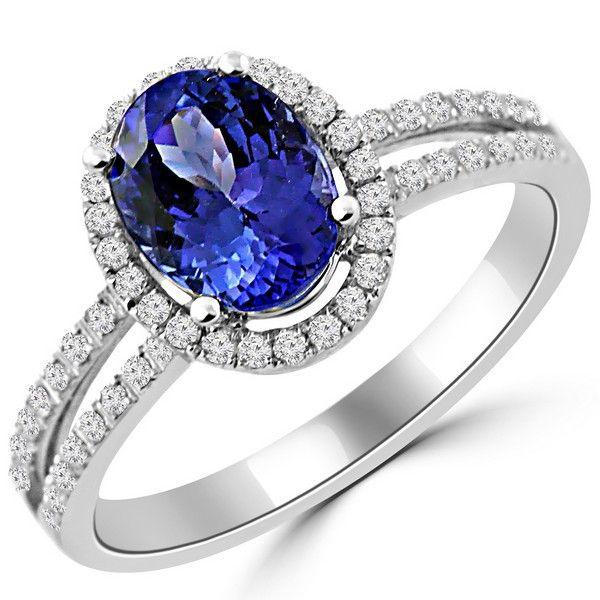 Carat Tanzanite: Tanzanite Rings, White Diamonds And Cushion Cut