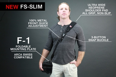 Camera Sling Strap with F-1 Foldable Mounting Plate