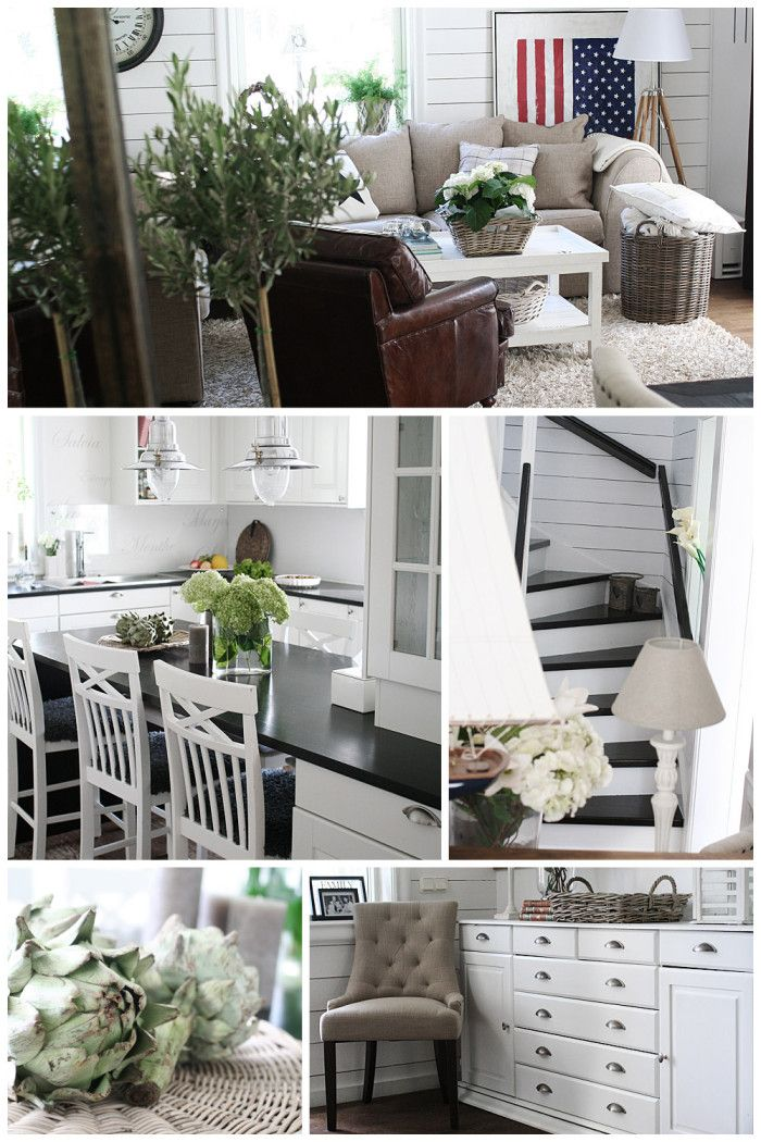Livingroom, kitchen, stairs, entrance - all rustic chic-, ocean living-, New England inspired