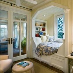 book nooksGuest Room, Bed Nook, Windows Seats, Cozy Nook, Book Nooks, Reading Nooks, Alcove Bed, Beds Nooks, Window Seats