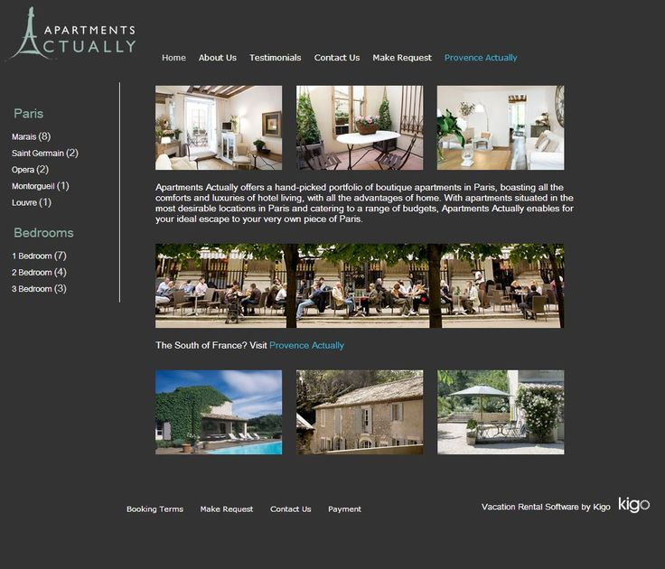 Captivating Vacation Rental Website Design   Http://apartmentsactually.com/.