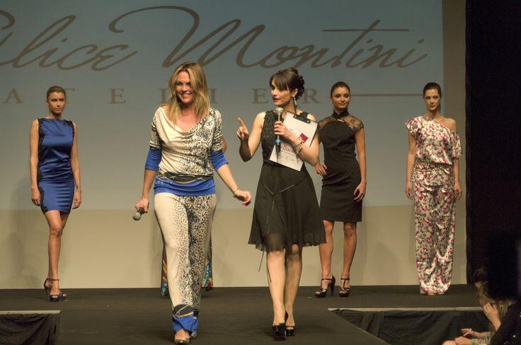 Passerella anche per la stilista Alice Montini accompagnata da Lorena Bianchetti