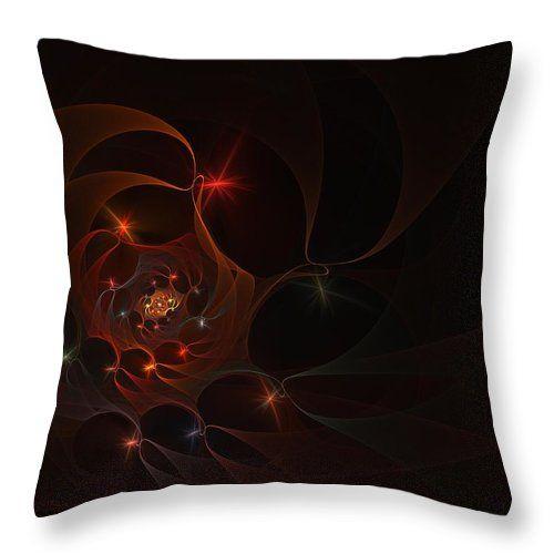 Fractal Throw Pillow featuring the digital art Labyrinth by Elena Ivanova IvEA  #ElenaIvanovaIvEAFineArtDesign #Design #Pillow #Cushiоn #HomeDecor #Gift