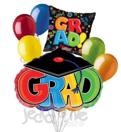 Hooray for the Grad & Cap Balloon Bouquet