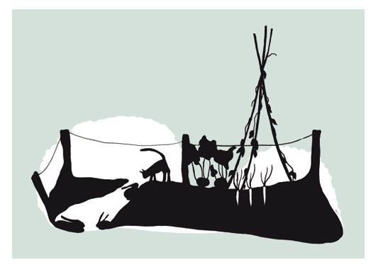 Postkaart 'Konijnenhol' van Stokwolf