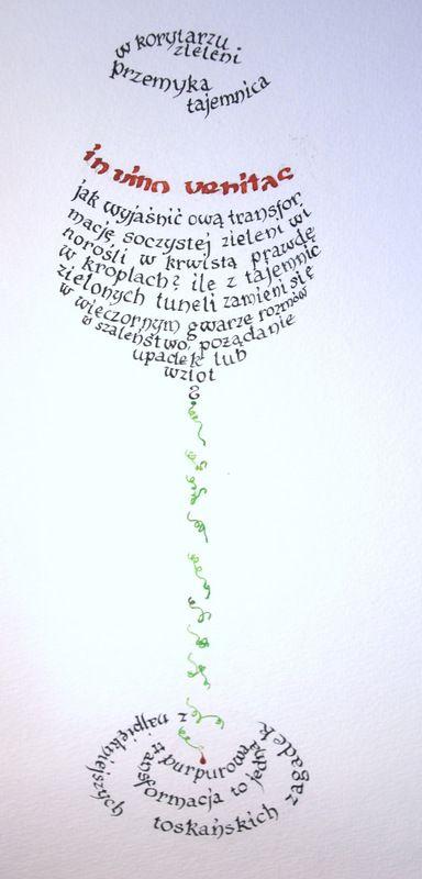 Calligram by Małgorzata Matyjaszczyk With poem of Monika Zawadzka
