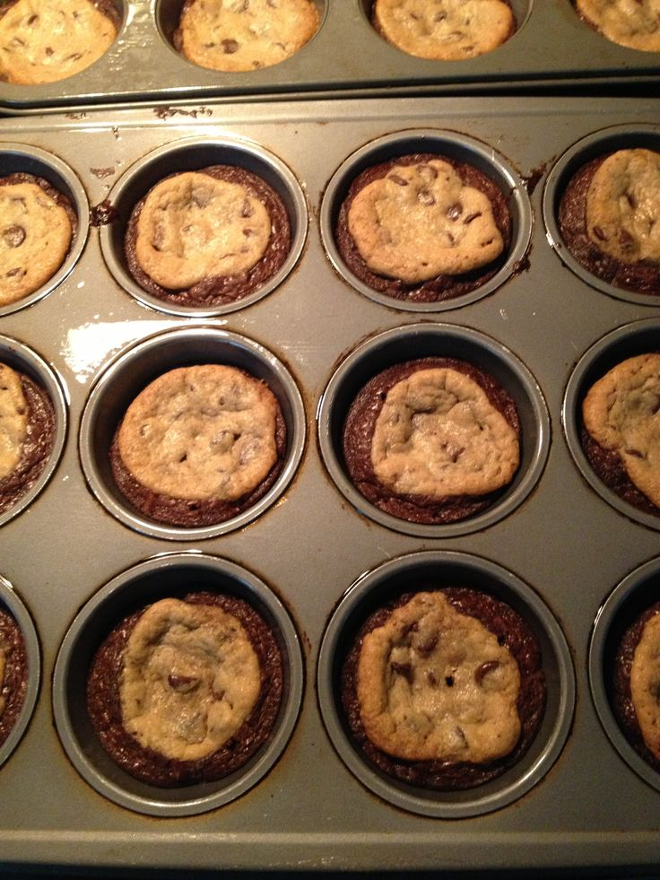 Brooksters: make your favorite brownie mix put into greased muffin ...