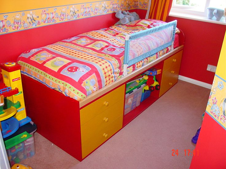 A bed I made for my son many years ago out of MDF, doubled up as a toy store too!