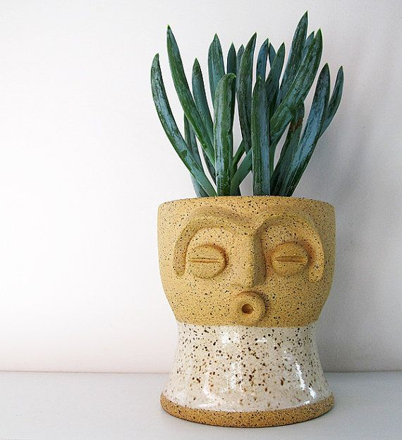 Funny   Limited Edition Face Planter   Perfect For Air Plant, Succulent Or  Cactus